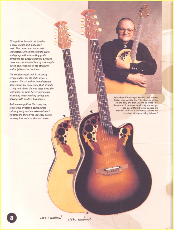 Ovation and Adamas 1998 Catalog