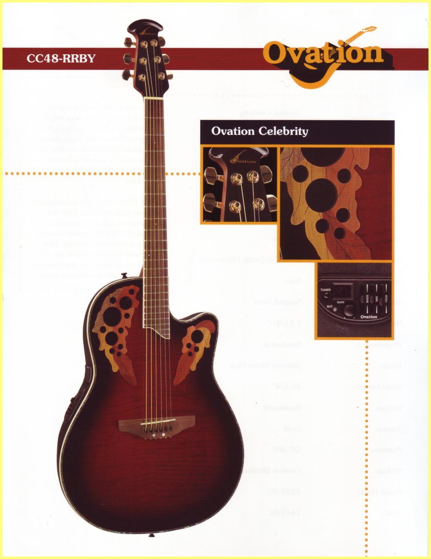 OVATION Celebrity cutaway CC68 ACOUSTIC ELECTRIC GUITAR ...