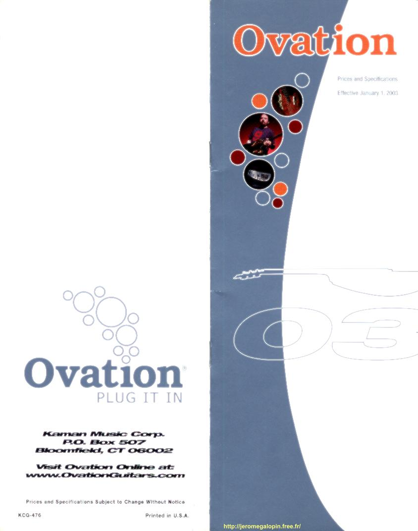 ovation 2003 mini catalog. Black Bedroom Furniture Sets. Home Design Ideas