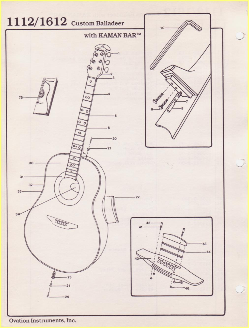 Ovation Parts Catalog Source · Ibanez RS240 Wiring Diagram