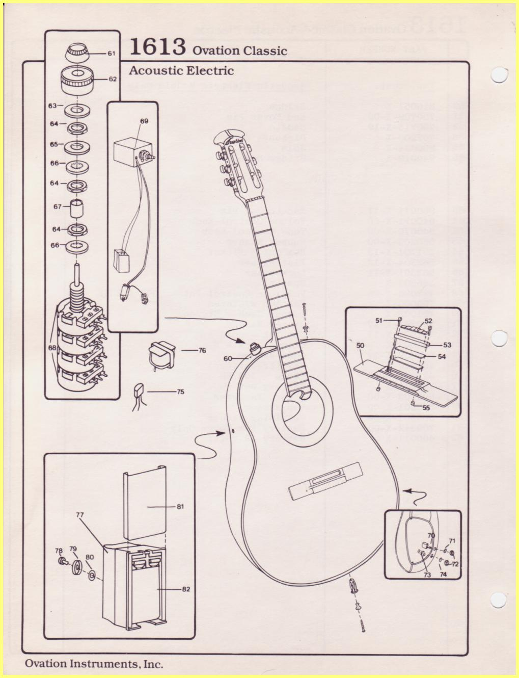Ovation Guitar Wiring Diagram Diy Diagrams Fender Parts Catalog Rh Ovationtribute Com Single Pickup Two Humbuckers