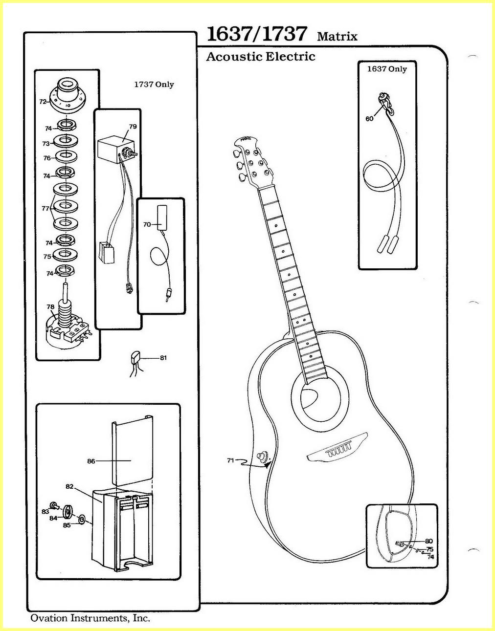 ovation parts catalog
