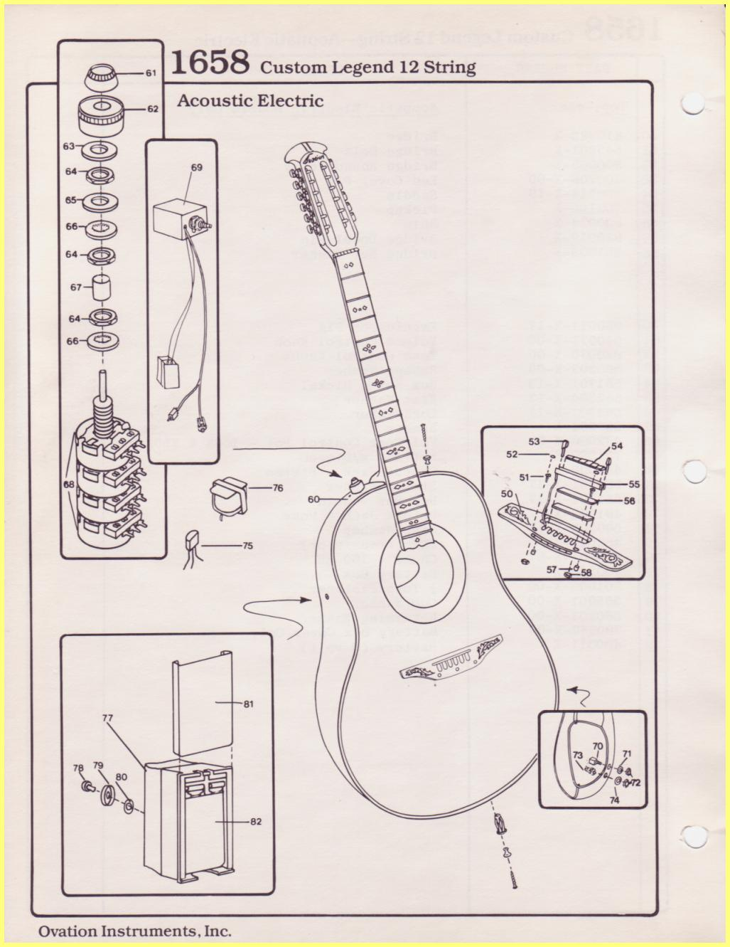 Ovation Parts Catalog Electric Guitar Strings Diagram Clegend 12