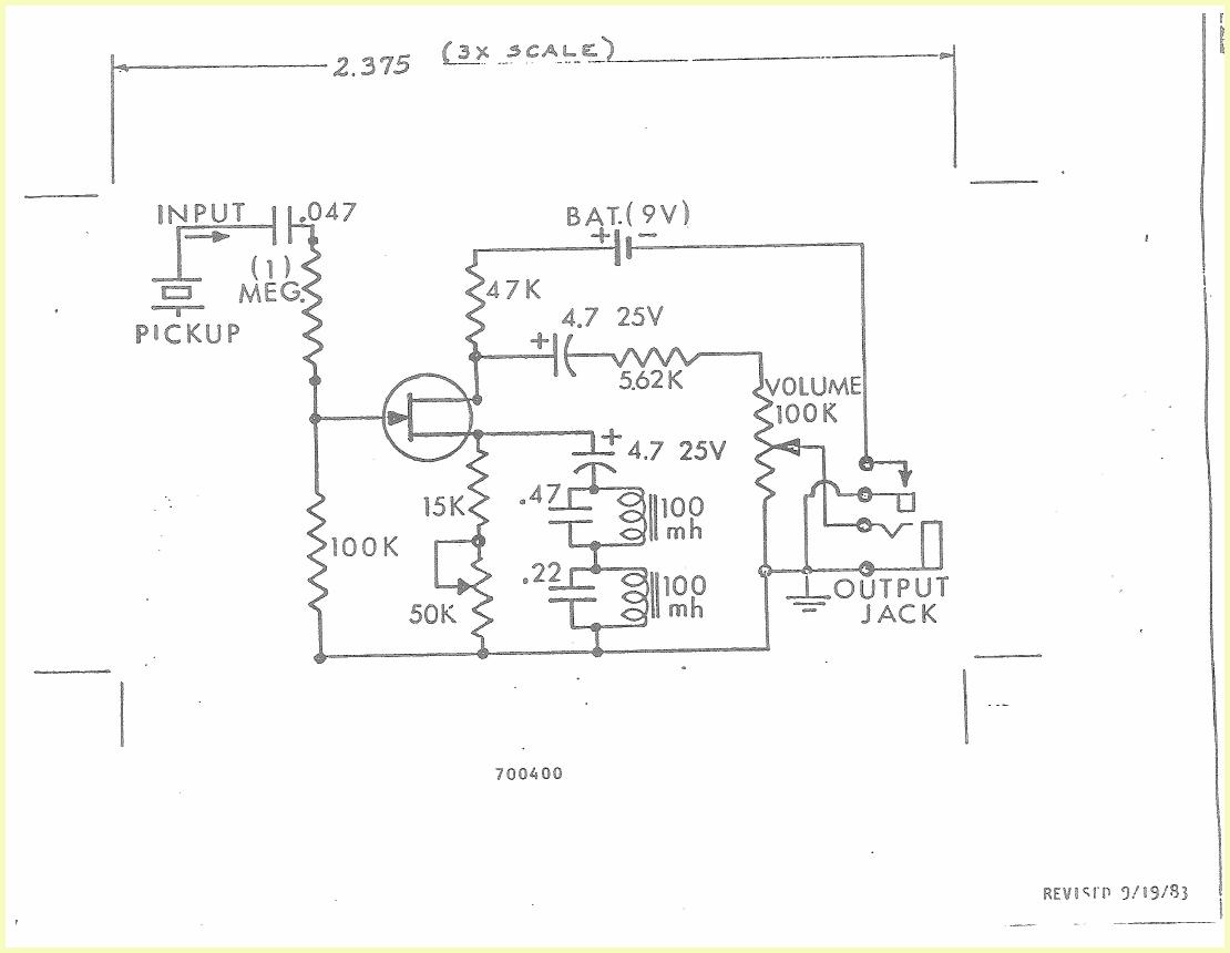 ovation volume only preamp schematic