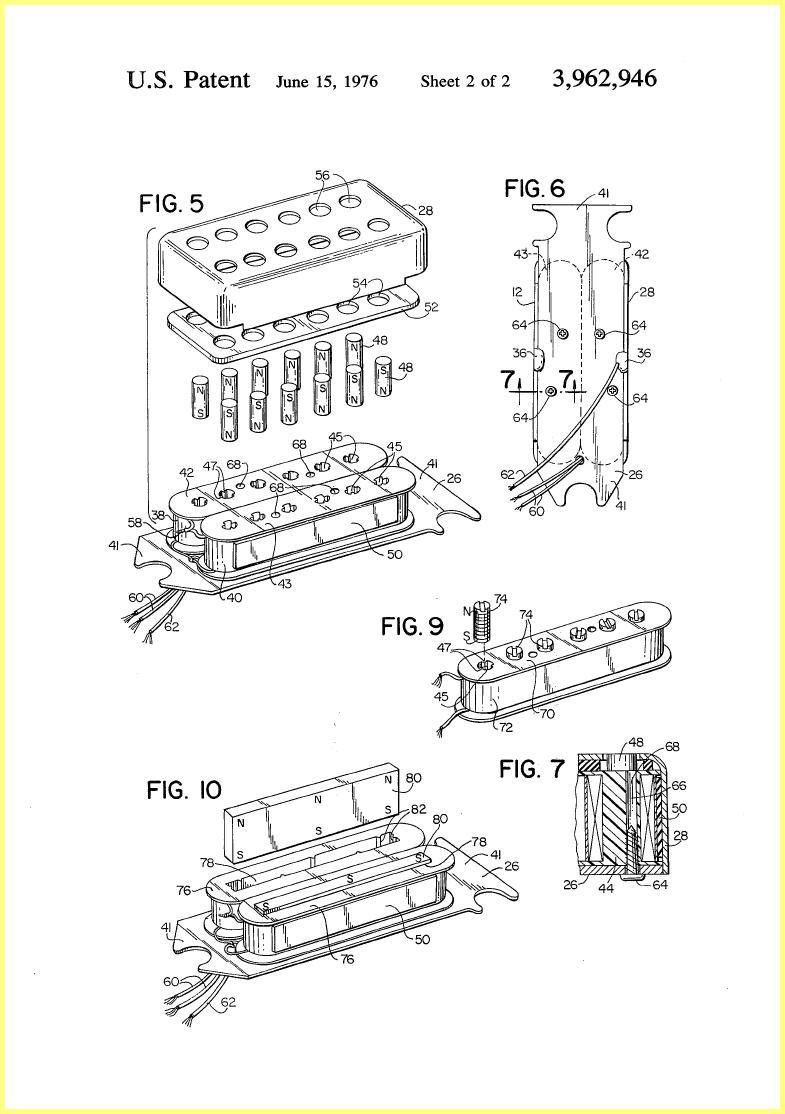 ovation breadwinner guitar pickup 1975 patent